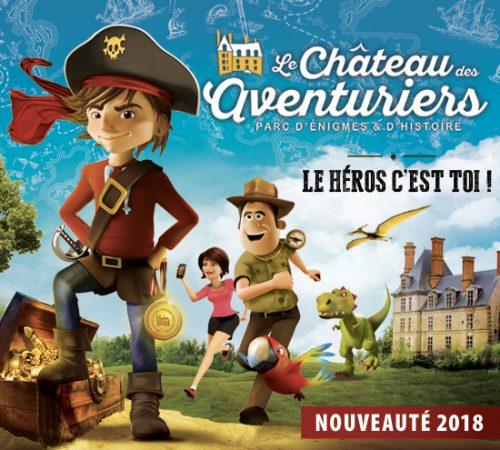 Visuel officiel du Château des Aventuriers 2018